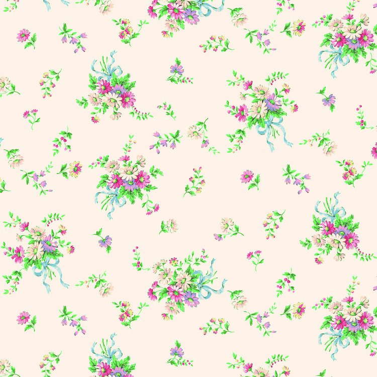 Floral Spray Bouquet - Cream<br/>Quilt Gate 1970-14A