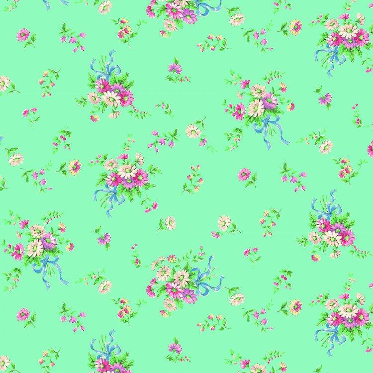 Floral Spray Bouquet - Mint<br/>Quilt Gate 1970-14D