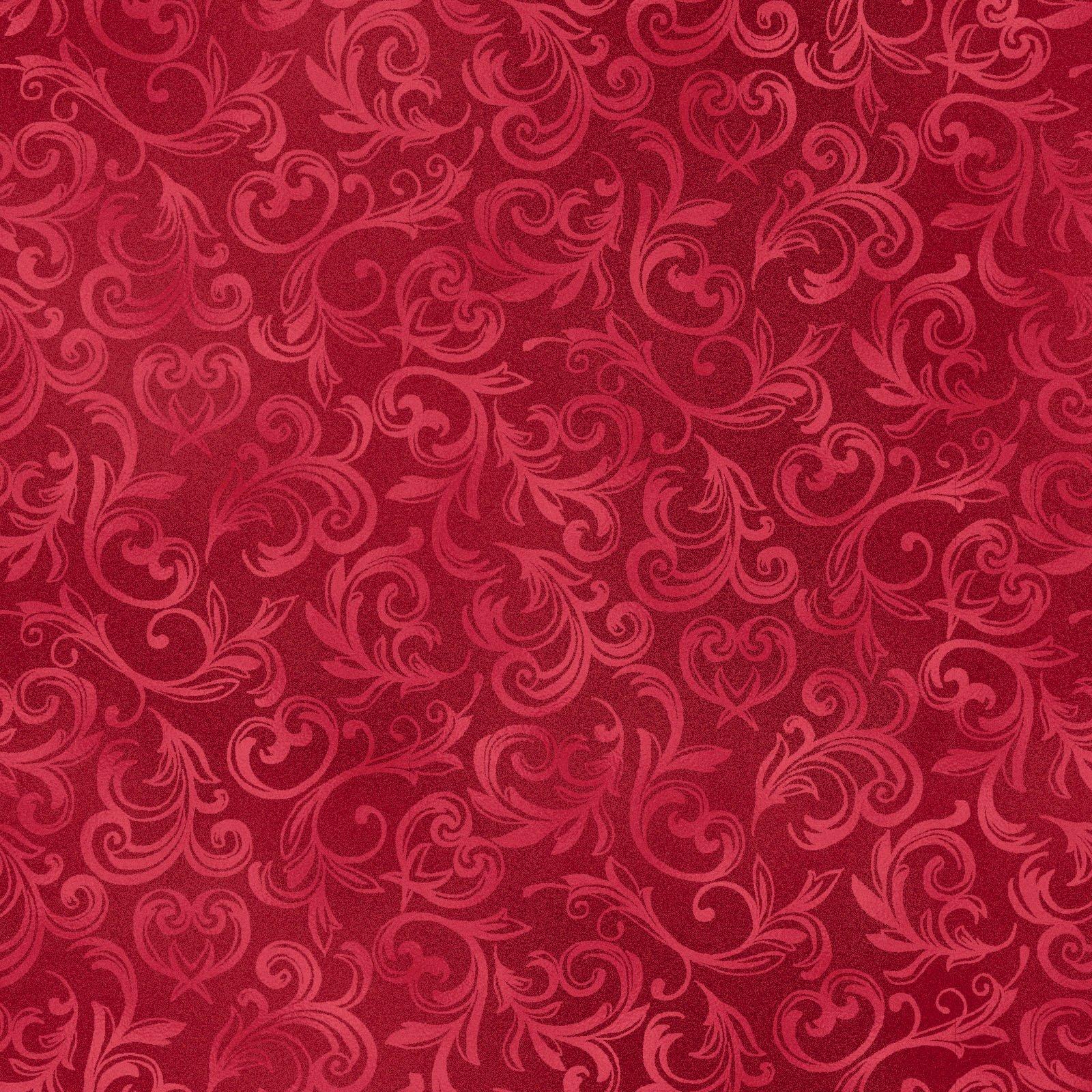 Pearl Essence Scroll Red<br/>Maywood Studio 114-R