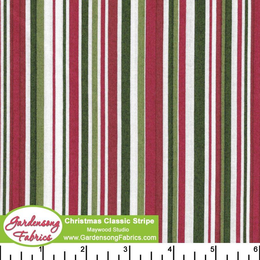 Christmas Classic Stripe<br/>Maywood Studio 616-W