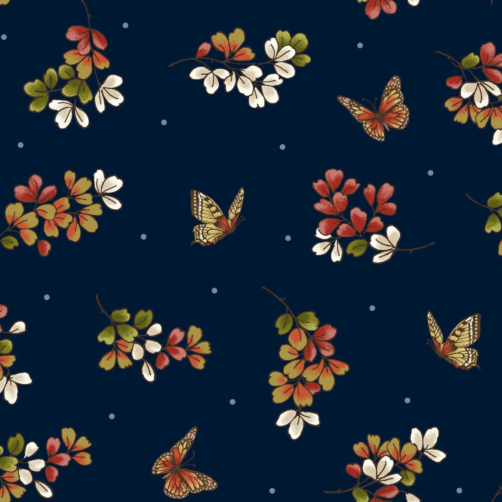 Japanese Garden - Butterfly Indigo<br/>Maywood Studio 8085-N