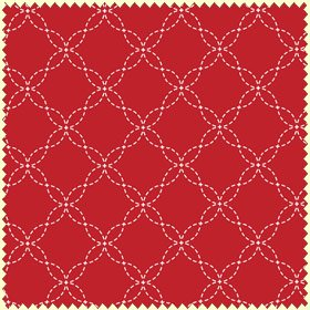 Red Stitched Geo</br>Maywood Studios 8209-R