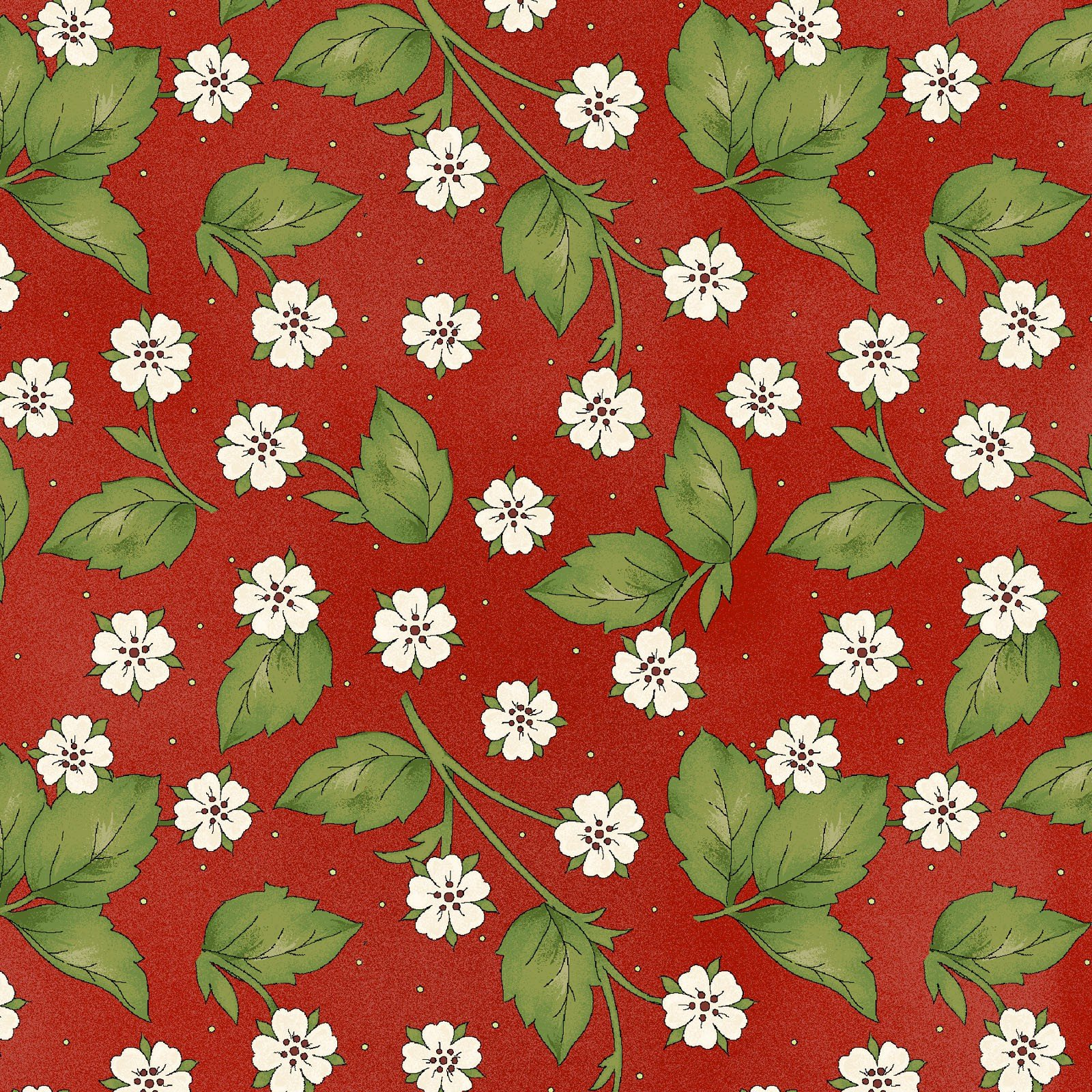 Strawberry Blossoms - Red<br/>Maywood Studio 8289-R