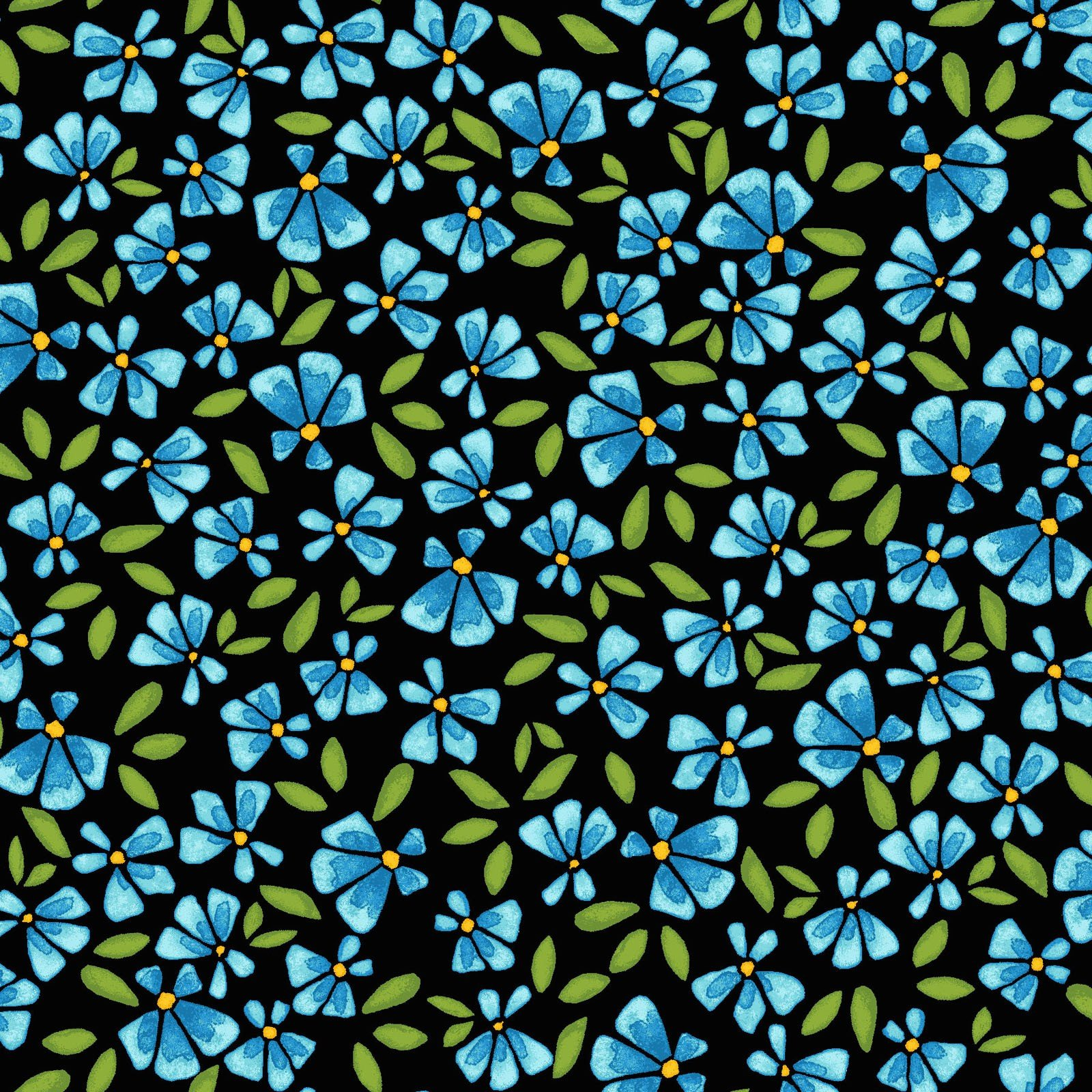 Lobelia - Blue/Black<br/>Maywood Studio 8448-JB