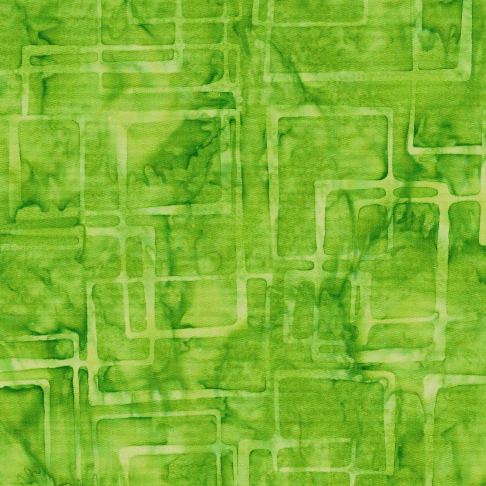 108in Java Batik - Lime Squares<br/>Maywood Studio JQB16-019