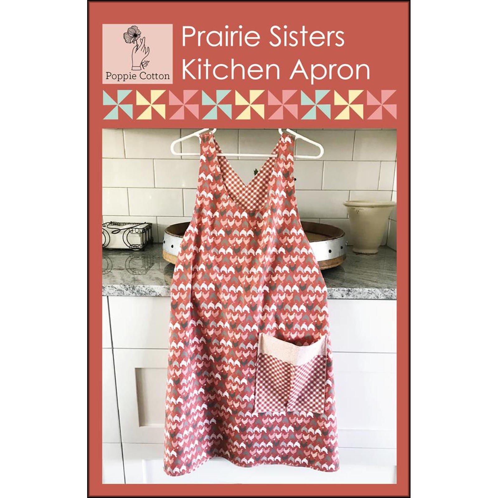 Prairie Sisters Kitchen Apron<br/>Poppie Cotton