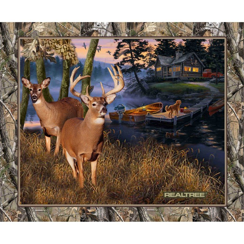 Realtree Lakeside Sunset Panel<br/>Print Concepts 10164