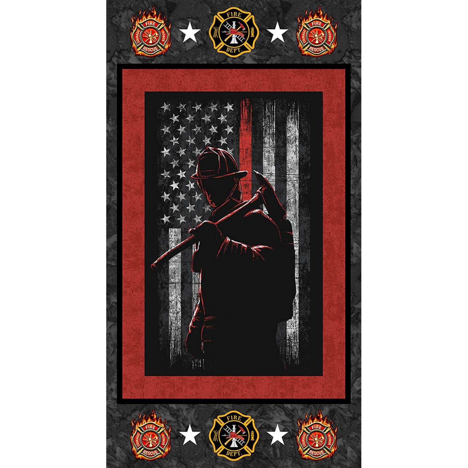 Hometown Heroes Firefighter Panel<br/>Print Concepts 1195FF