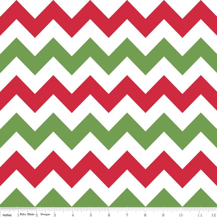 Laminate - Med Chevron Christmas<br/>Riley Blake