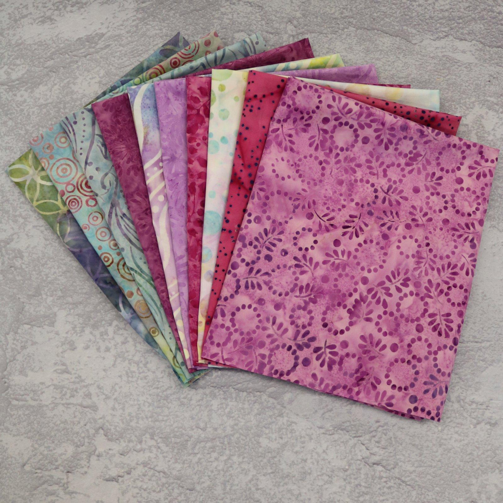 FQ Bundle Purple Batiks #1<bk/>GSF House Mix