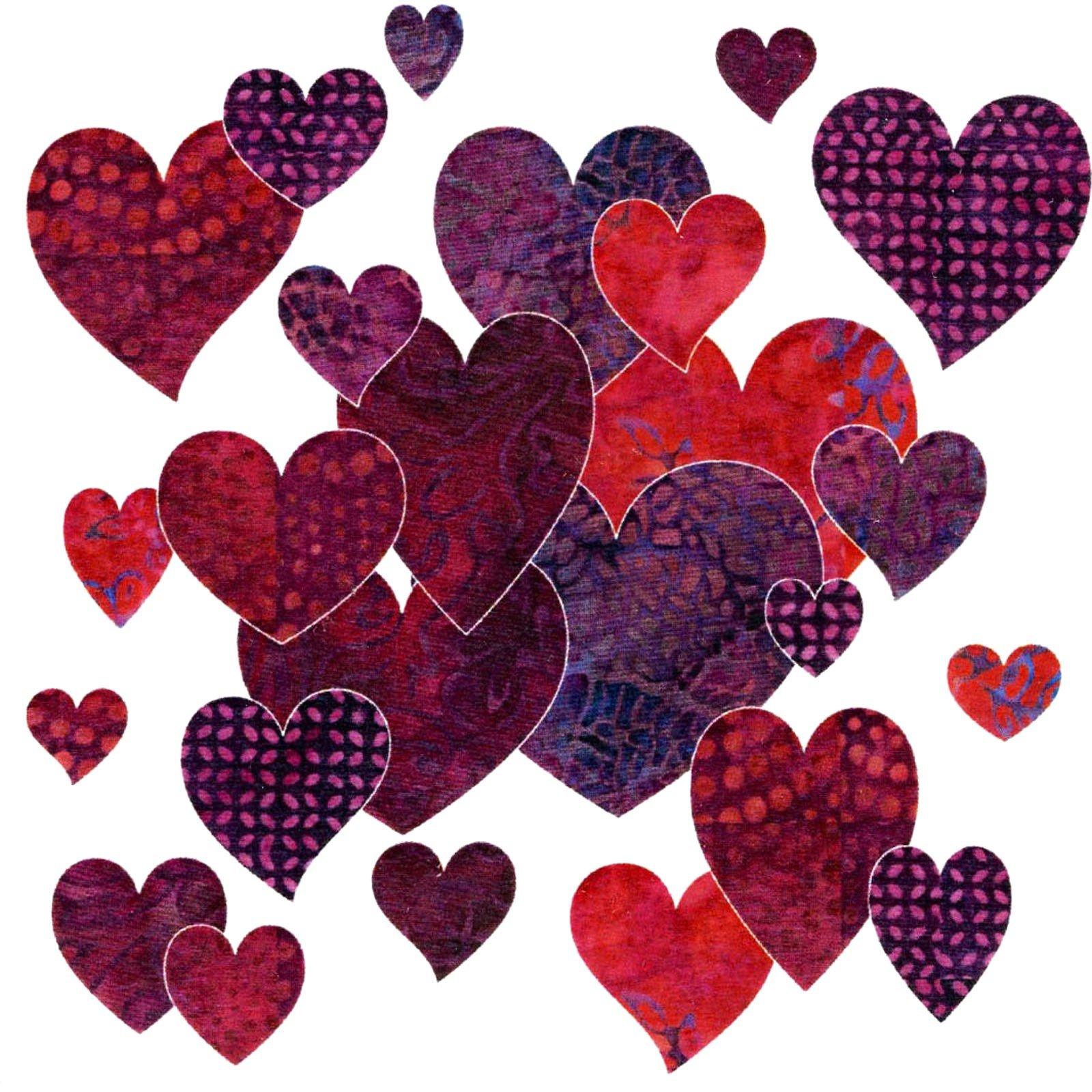 Bohemian Chic Hearts - Fuchsia Batik Set<br/>Applique Elementz 1020