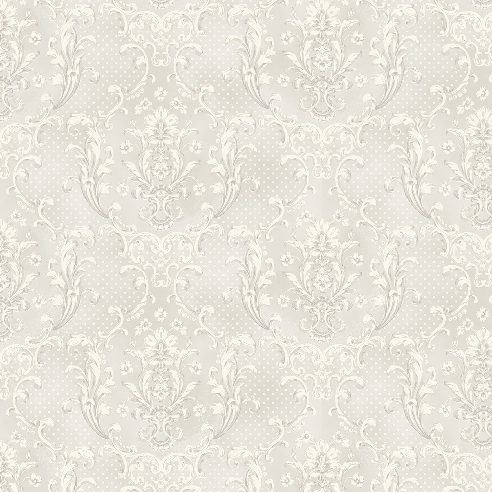 Sweet Rose Damask Pale Grey<br/>Quilt Gate 2330-17A
