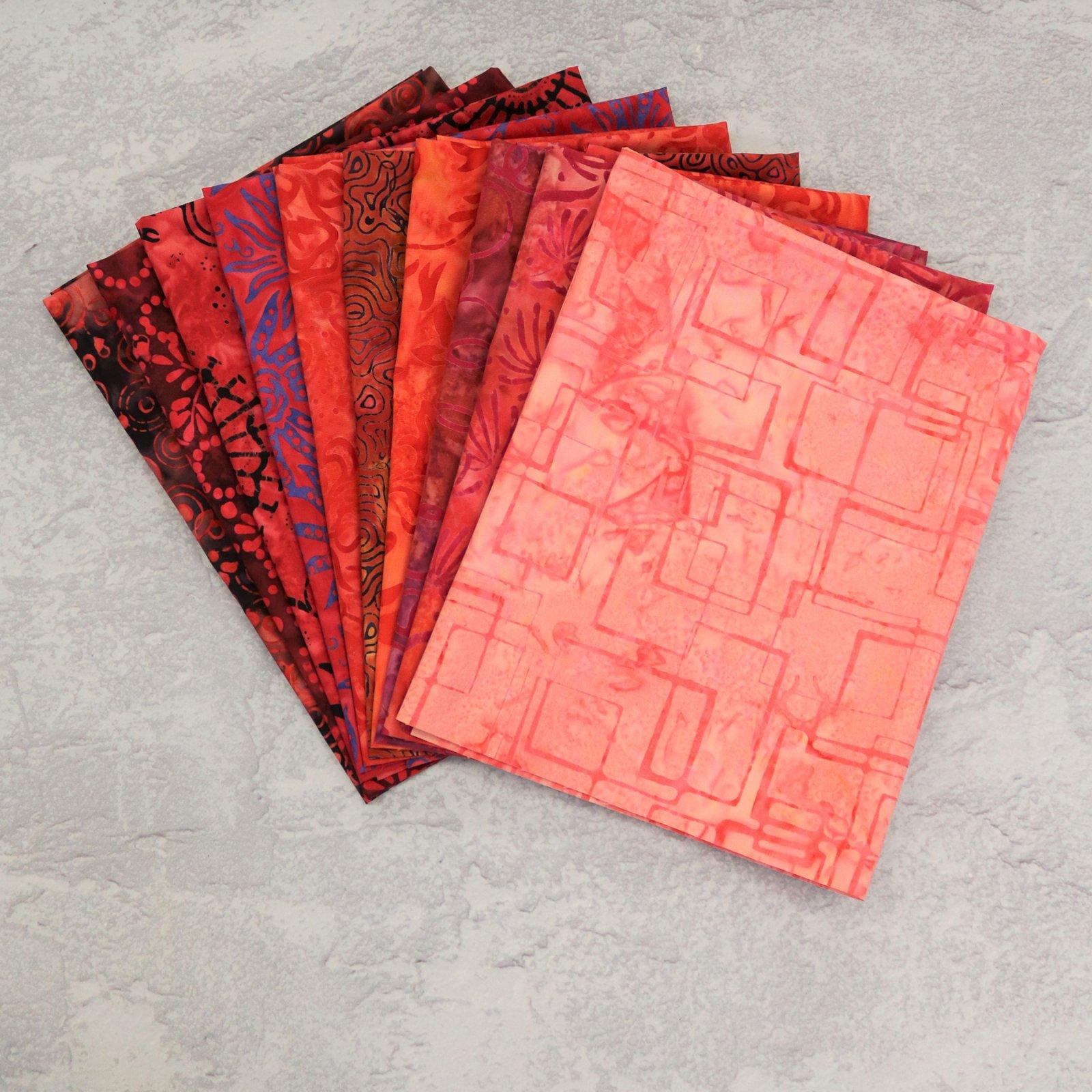 FQ Bundle Red Batiks<bk/>GSF House Mix