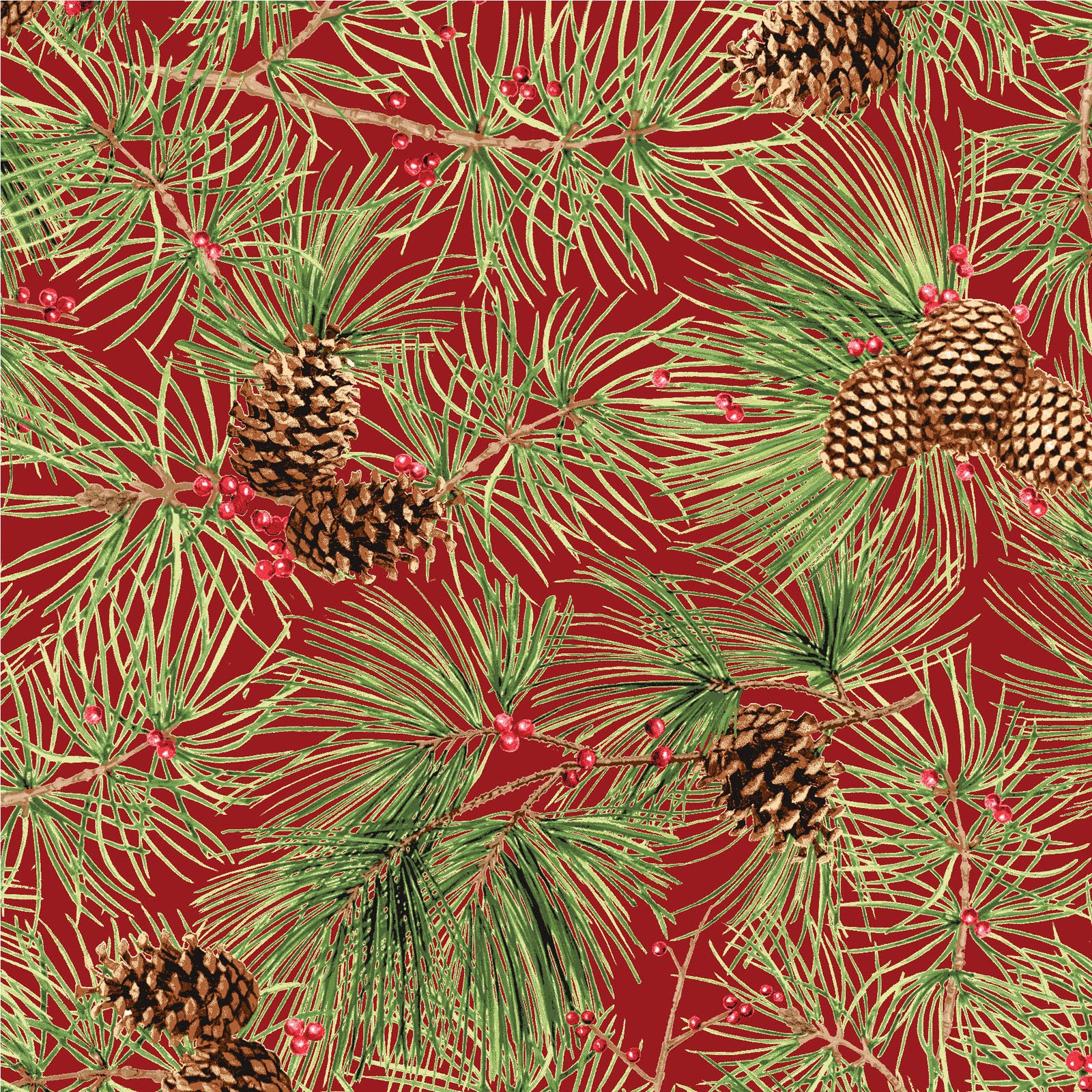 Pine Needles - Red<br/>Red Rooster 26602-RED