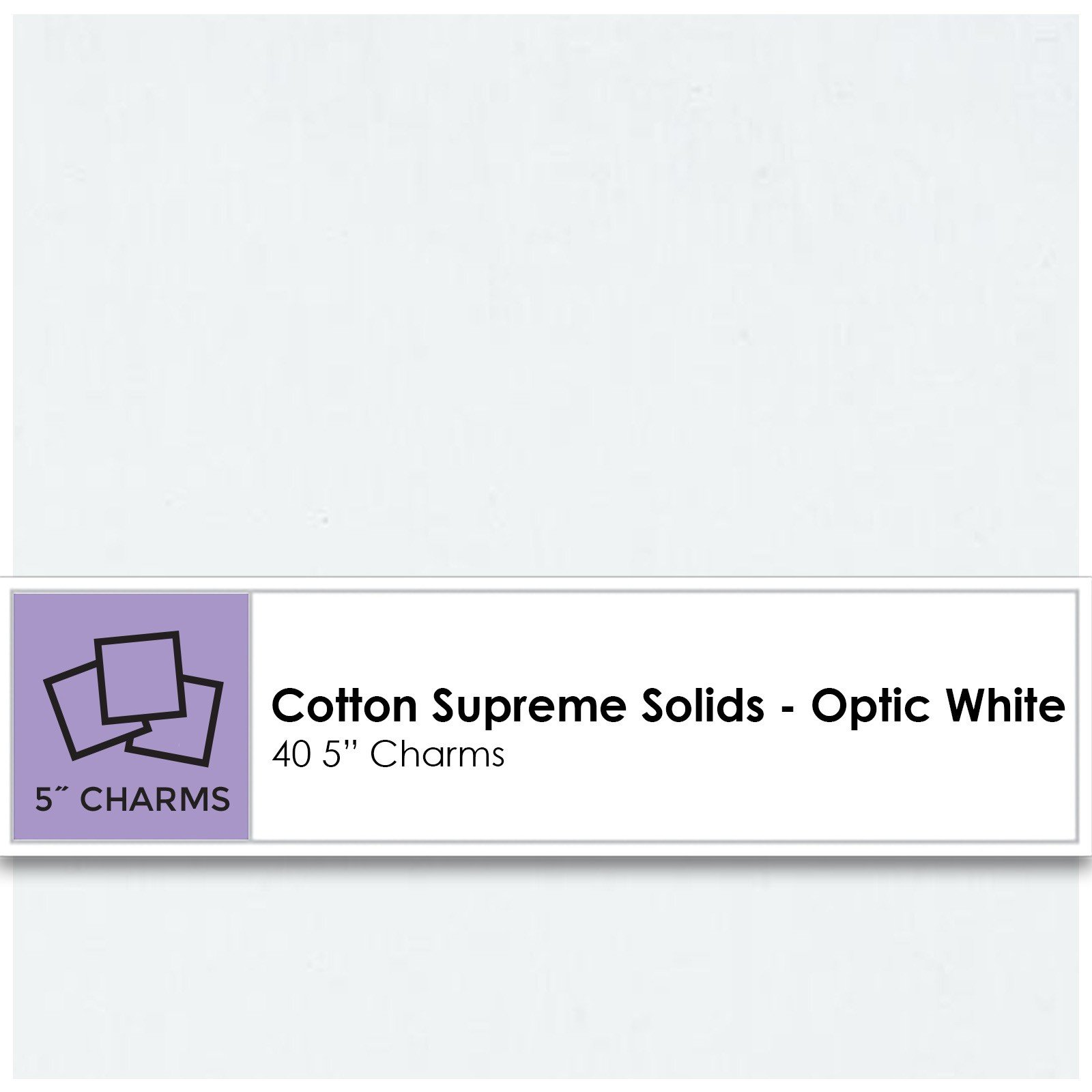 Charm Pack - Solid Optic White<br/>RJR CP9653-707