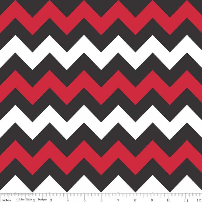 Chevron Red/Black Medium</br>Riley Blake