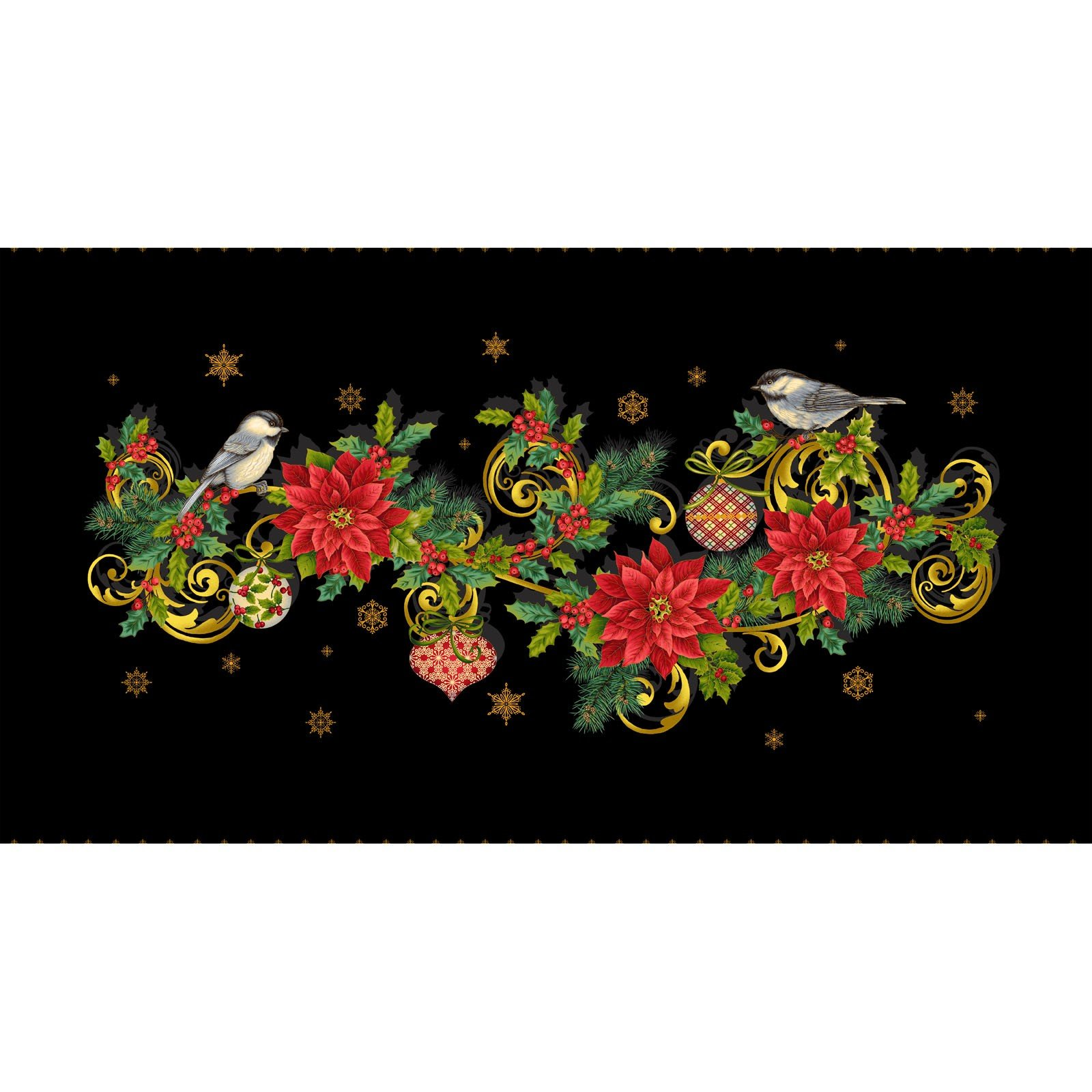 Christmas Joy Table Runner Panel<br/>Studio-e 4691P-99