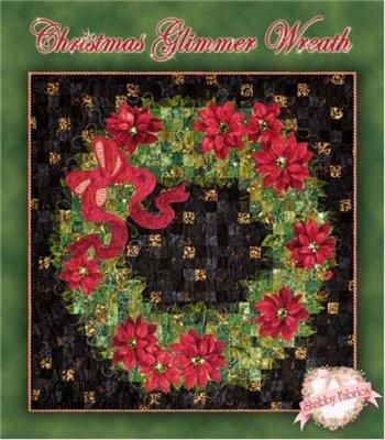 Christmas Glimmer Wreath<br/>Shabby Fabrics