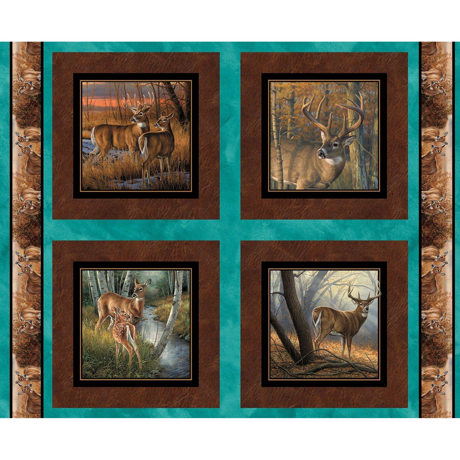 Field Day Deer Pillow Panel<br/>Springs Creative 68410-216