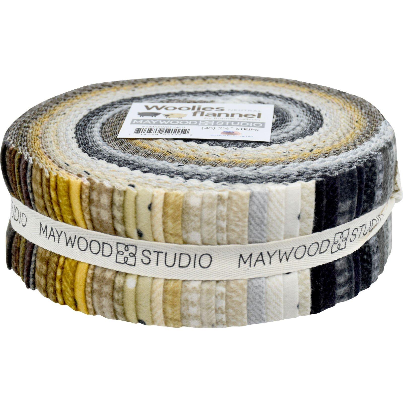 Strips - Woolies Flannel Neutral<br/>Maywood Studio