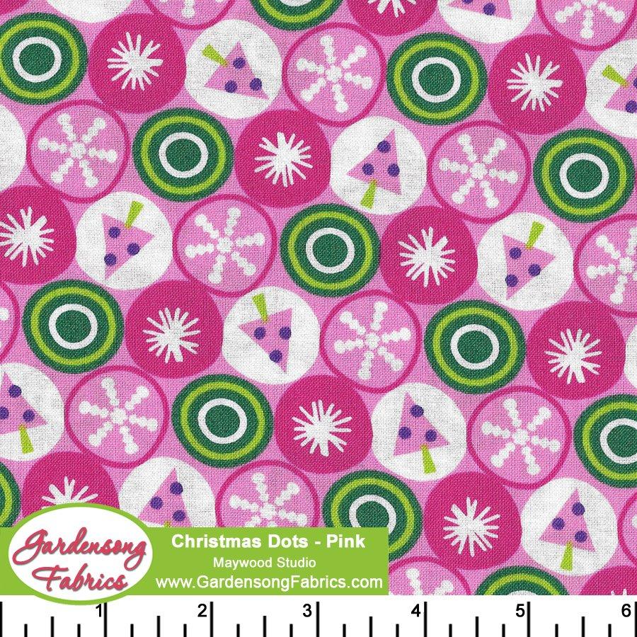 Christmas Dots Pink<br/>Maywood Studio 8773-P