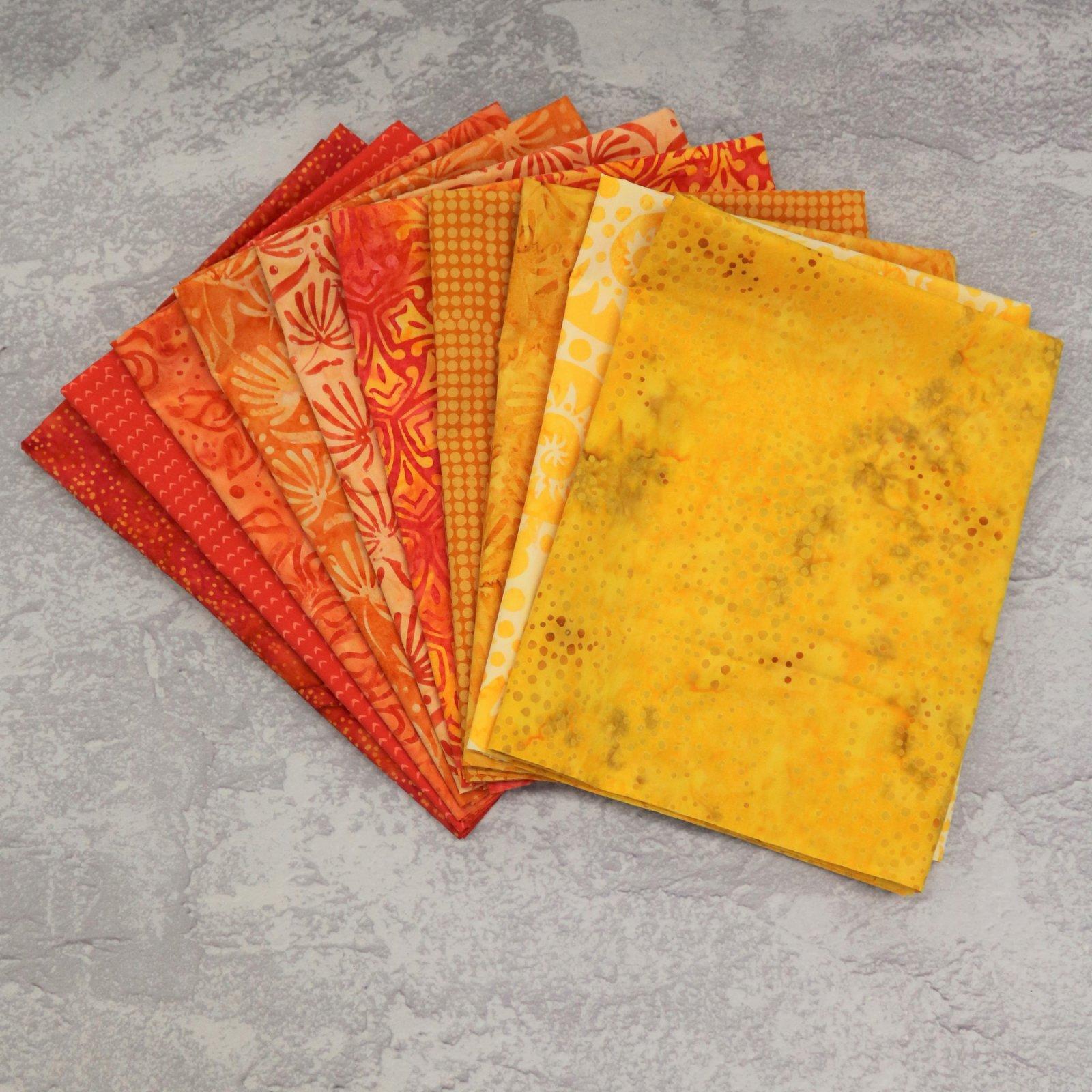 FQ Bundle Yellow/Orange Batiks<br/>GSF House Mix