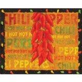 Magic Slice flexible cutting board chili peppers