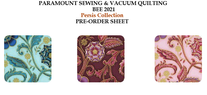 Quilting Bee 2021 Order Form