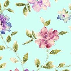 Ariel Floral Vine Lt. Aqua