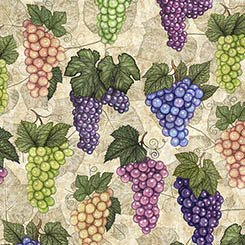 Perfectly Vintage Grapes Stone