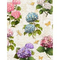 Hydrangea Dreams Large All Over Ivory
