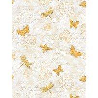 Hydrangea Dreams Butterflies Ivory