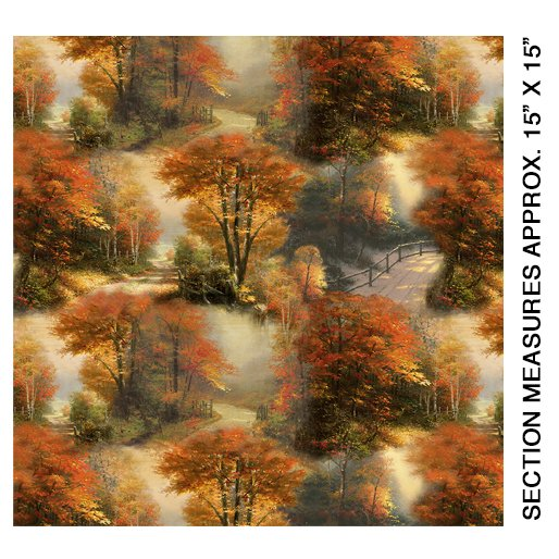 Kinkade Autumn Colors Allover Multi