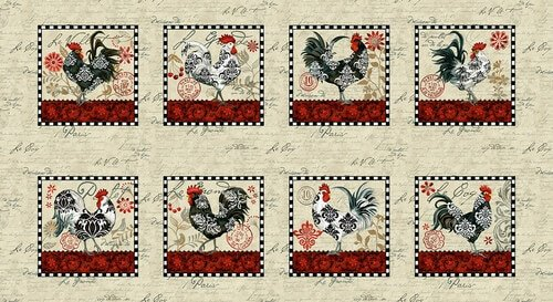 LE POULET ROOSTER PANEL #182