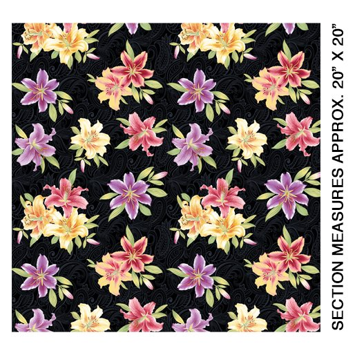 Lillyanne Small Lily Black/Multi