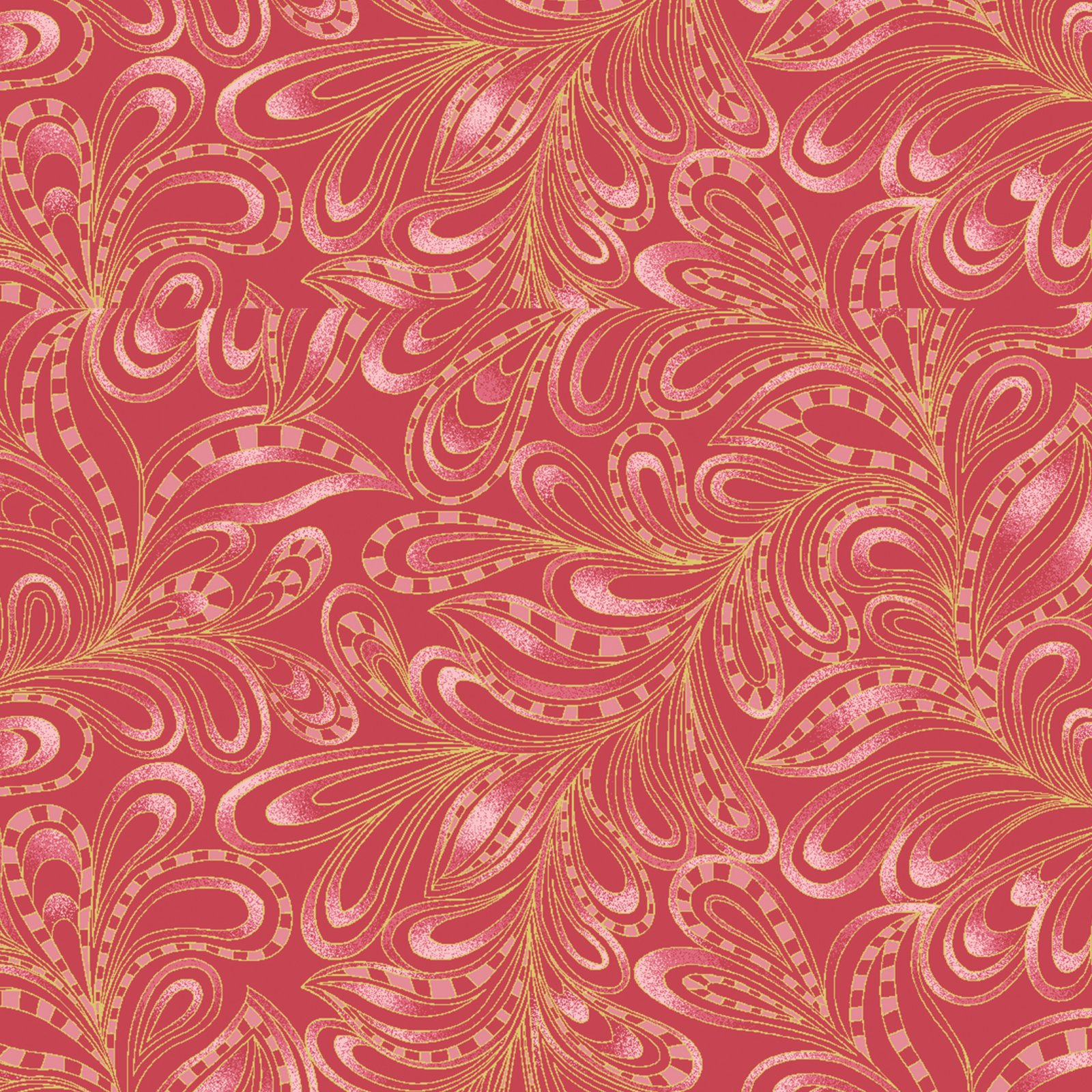 Purr-Fect Together Featherly Paisley Red