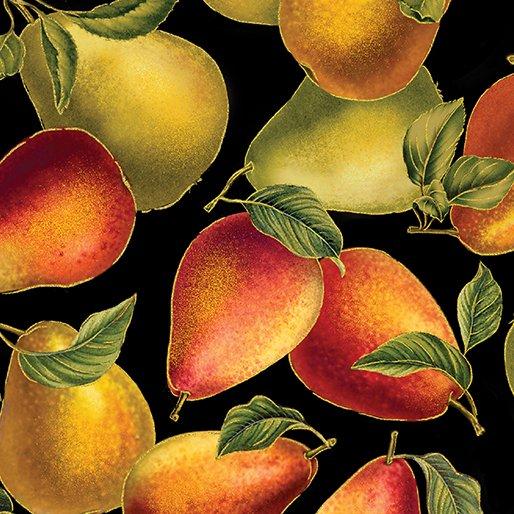Harvest Gold Elegant Pears Black