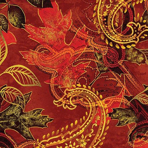 Harvest Gold  Paisley Leaf Russet