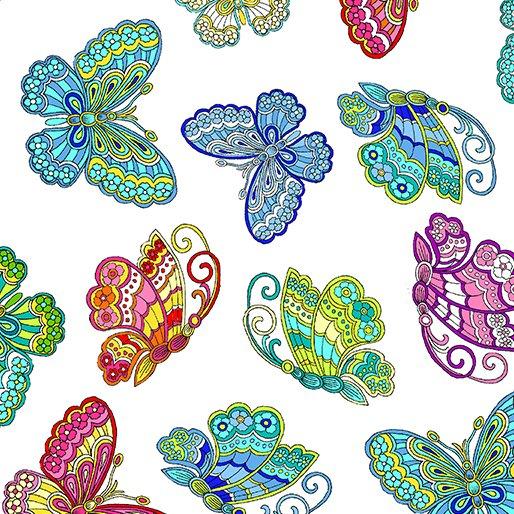Dazzling Garden Dazzling Butterflies White