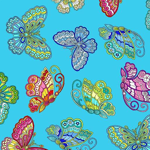 Dazzling Garden Dazzling Butterflies Turquoise
