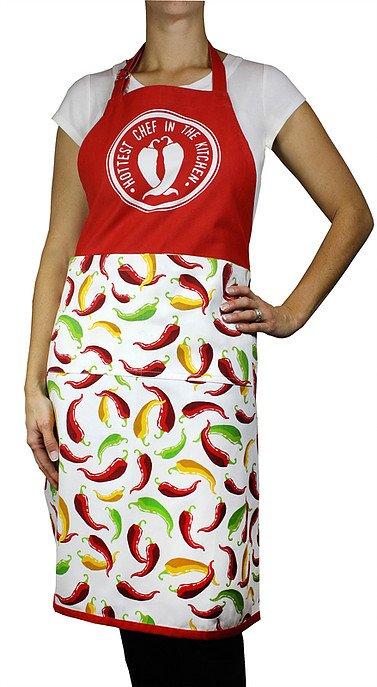 Mu Kitchen apron chili peppers