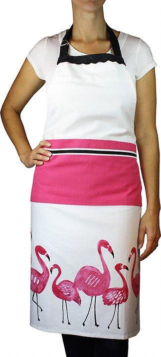 Mu Kitchen apron flamingo