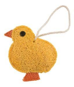 Loofah Art kitchen scrubber baby chick