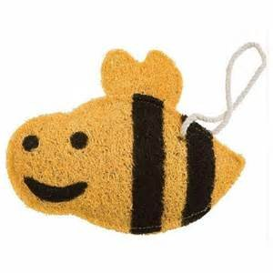 Loofah Art kitchen scrubber bumble bee