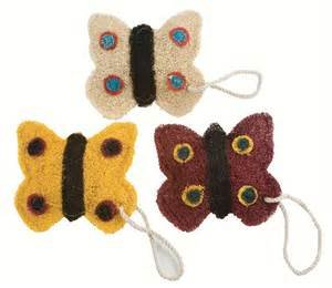 Loofah Art kitchen scrubber butterfly