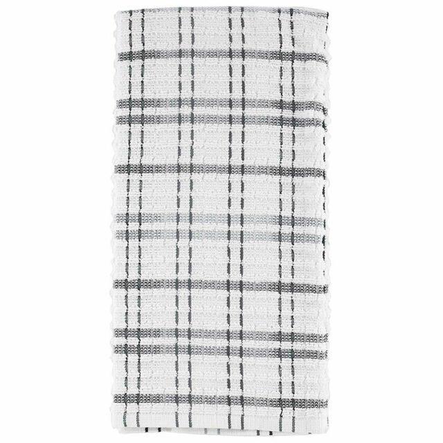 Ritz Royale check kitchen towel graphite