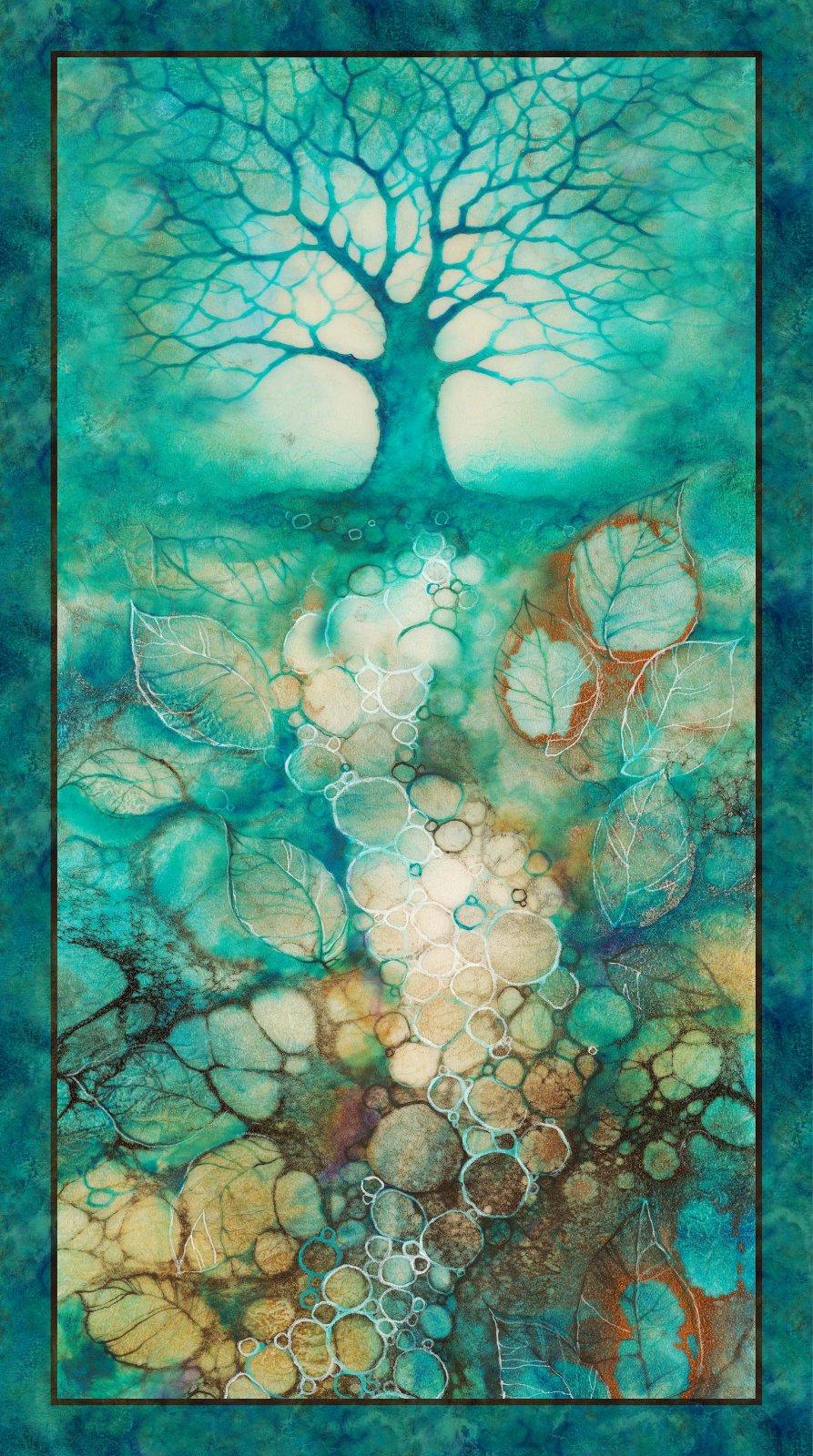 TREE OF WISDOM TEAL MULTI Panel