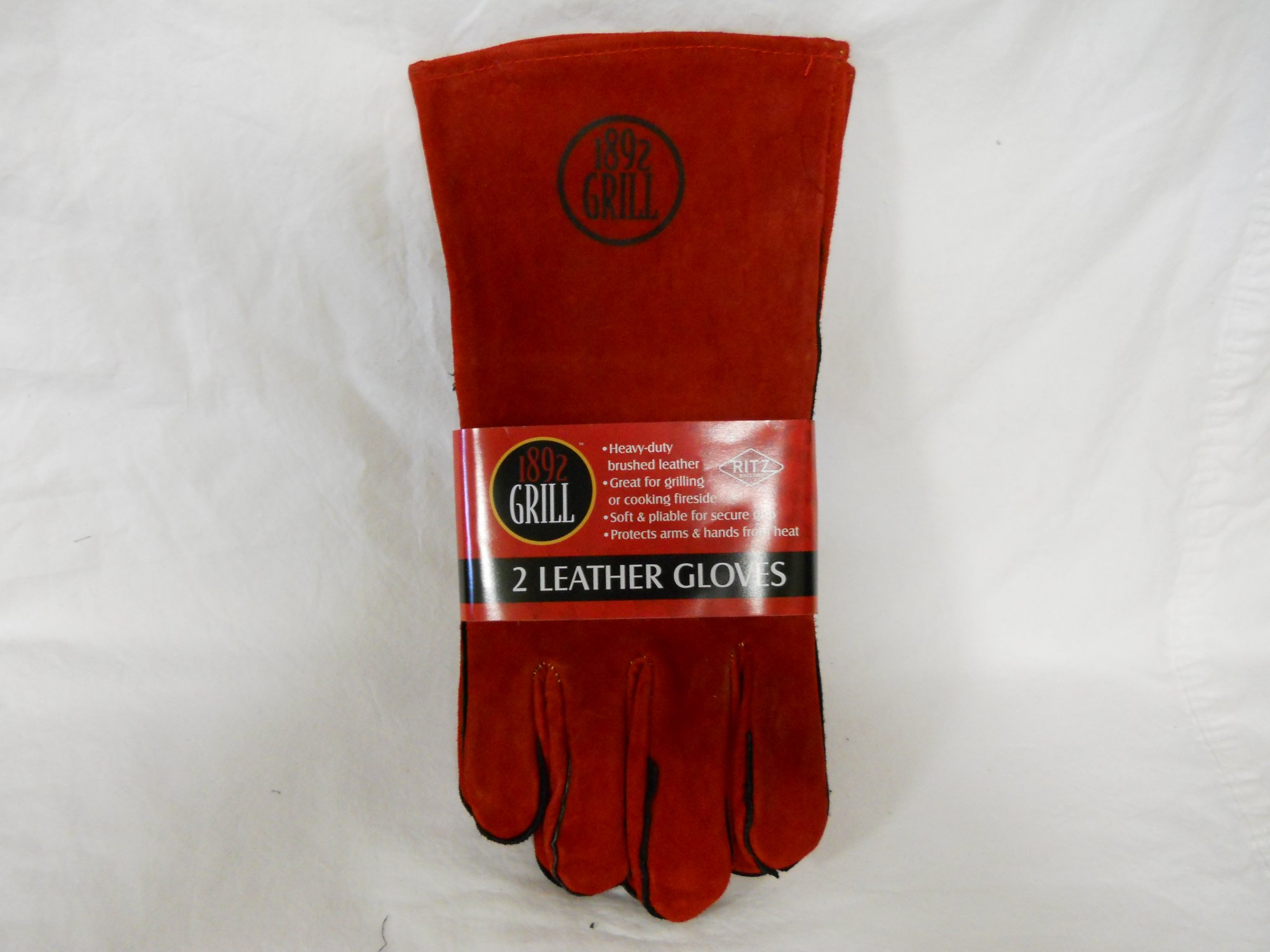 Ritz 2pk BBQ Leather Gloves