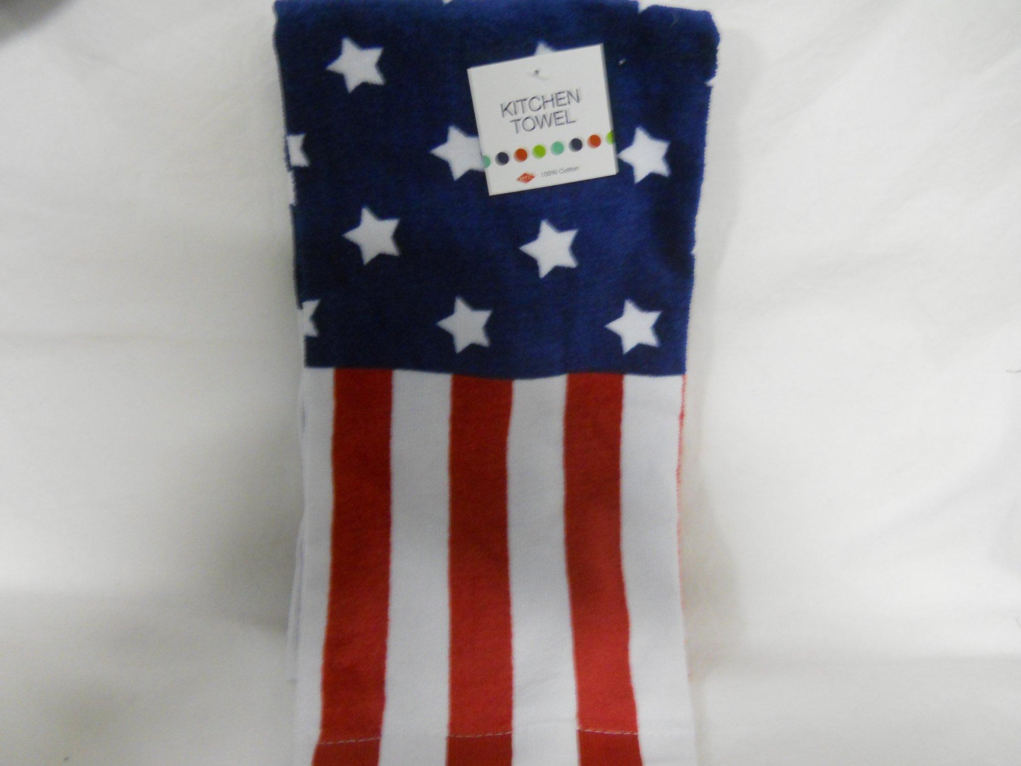 Ritz kitchen towel American Flag