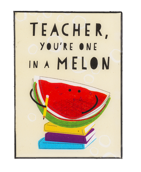 Ganz Mini Plaque Teacher you're one in a Melon